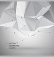 Low polygon geometry shape vector image