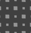 Modern Chess board sign Seamless pattern on a gray vector image