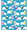 Polar bears on blue background vector image