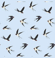 seamless birds pattern vector image