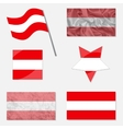 Set with Flags of Austria vector image