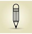 symbol of pencil isolated icon design vector image