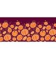 Thanksgiving pumpkins horizontal border seamless vector image