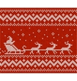 Sweater with Santa and his deers vector image