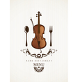 cafe menus for music vector image