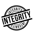 Integrity stamp rubber grunge vector image