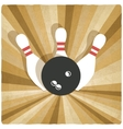 bowling old background vector image