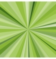 Green rays background for your bright beams design vector image