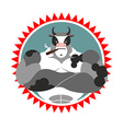 Strong Bull with glasses and with a cigar Logo for vector image