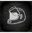 Hand Drawn Bikers Helmet vector image