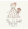 sweet mom vector image