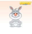 Cute Cartoon Little Rabbit Funny Animal vector image