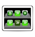 Forward arrow green app icons vector image