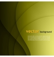 Green smooth twist light lines background vector image