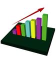 Growing Up Graph vector image