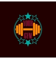 Gym symbol background vector image