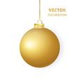 hanging christmas ball sparkling golden glitter vector image