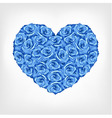 heart of blue rose card valentine wedding day vector image