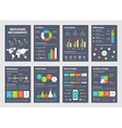 Modern dark business infographic brochure template vector image