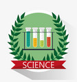 science test tube school supplies vector image