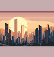 sunrise landscape in city vector image