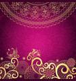 Vintage purple frame vector image