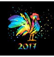 Year of rooster 2017 vector image
