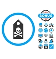 Death Mark Flat Icon with Bonus vector image