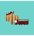 flat icon on background Forest fire truck vector image