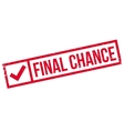 Final Chance rubber stamp vector image