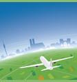 munich skyline flight destination vector image