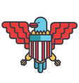 eagle bald usa flat line  concept vector image