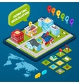 Isometric Geolocation Concept vector image