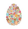 Easter egg symbol vector image