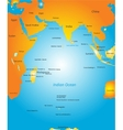map of Indian ocean region vector image vector image