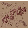 dark chocolate logo design 3d letters vector image