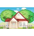 Suburban house vector image