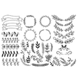 Hand Drawn Decorative Elements Set vector image vector image