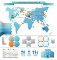 air summer travel infographic concept vector image