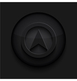 black circle iconEps10 vector image