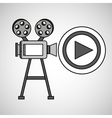 camera film vintage with movie play vector image