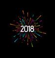 happy new 2018 year vector image