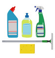 house cleaning set vector image