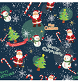 Seamless Pattern Christmas Night vector image