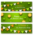 Set Banners with Bunting Hanging Pennants vector image