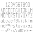 thin font with a thin sharp shadow vector image
