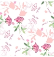 Seamless pattern with pink rose1-04 vector image vector image