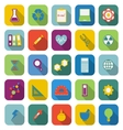 Science color icons with long shadow vector image