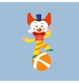 Clown Balancing On One Leg vector image