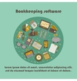 Bookkeeping card templat vector image